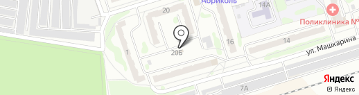 Авоська на карте Орла
