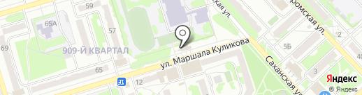 Продуктовый киоск на Саханской на карте Орла