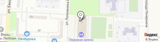 Ледовая арена на карте Зареченского
