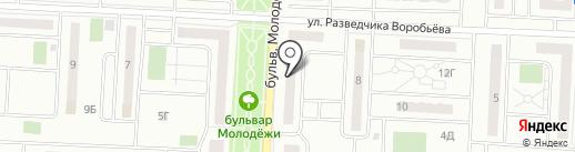 Магазин разливного пива на бульваре Молодёжи на карте Орла