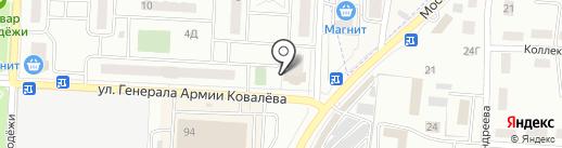 Компания по продаже окон и дверей на карте Зареченского