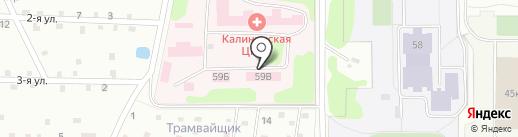 Калининская центральная районная клиническая больница на карте Твери