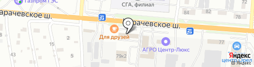 Автоколонна-1142 на карте Орла