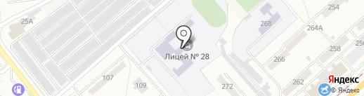 Лицей №28 на карте Орла