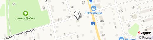Промтовары на ул.Максима Горького, д.1 на карте има. Льва Толстого