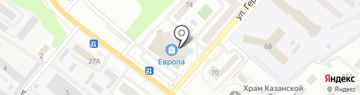 Муар на карте Орла