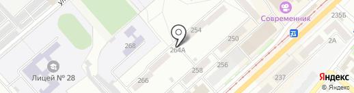 Торговый домик на Комсомольской на карте Орла