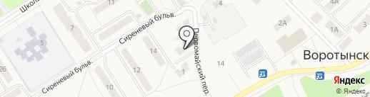 Тепловодоканал на карте Воротынска