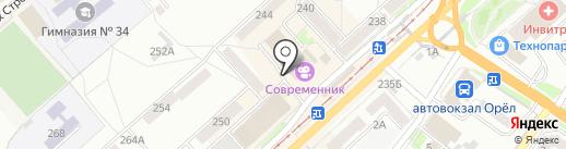 Мастерская по ремонту обуви на Комсомольской на карте Орла