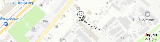 Европак на карте Орла