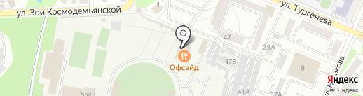 Офсайд на карте Орла
