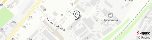 Союз Орловщины на карте Орла