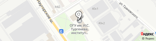 Научприбор, НПАО на карте Орла