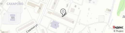 Почтовое отделение №46 на карте Сахарово
