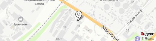 Оптовый склад на карте Орла