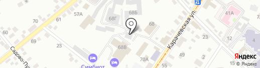Александровский сад на карте Орла