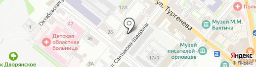 Орелархпроект на карте Орла