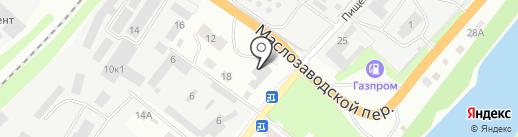 Строительная база в Пищевом переулке на карте Орла