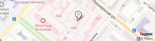 Орловская областная клиническая больница на карте Орла