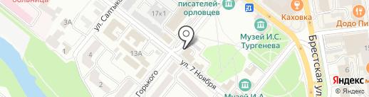 Военная прокуратура Брянского гарнизона на карте Орла