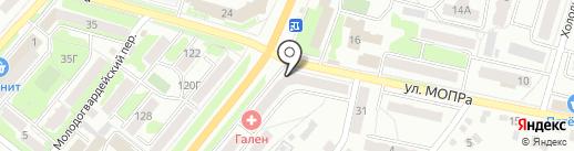 Магазин цветов и игрушек на Комсомольской на карте Орла
