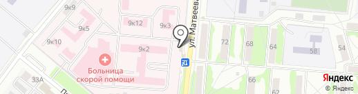 Кадуцей на карте Орла
