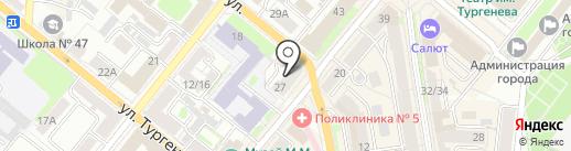 Эксист-сеть на карте Орла