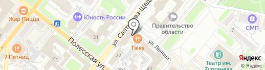 Справедливая Россия на карте Орла