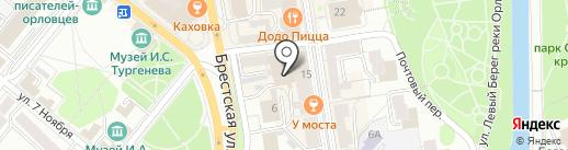 Первая городская управляющая компания, ЗАО на карте Орла