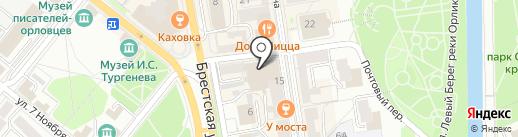 Улиткина Пряжа на карте Орла