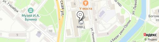 Лиона на карте Орла
