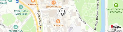 Библиотека им. И.А. Крылова на карте Орла