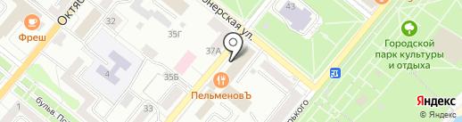 Адвокат Бибиков Р.Ю. на карте Орла