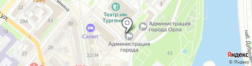 Столовая №30, МУП на карте Орла