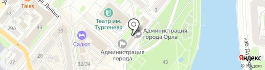 Орловский городской совет народных депутатов на карте Орла