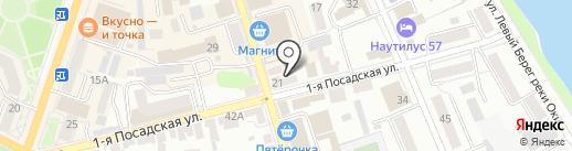 Данила-мастер на карте Орла