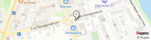 Сауна на Гагарина на карте Орла