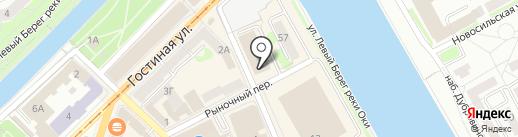 Торговый комплекс на Черкасской на карте Орла