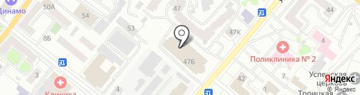 Модные кухни Орел на карте Орла