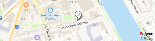 Киоск фастфудной продукции на карте Орла