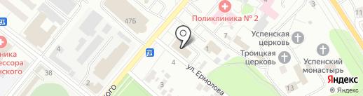 Арбитражный суд Орловской области на карте Орла