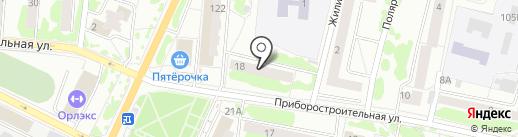 Магазин одежды и обуви на карте Орла