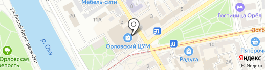 Чайкофф на карте Орла