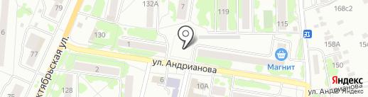 Отдел Военного комиссариата Орловской области по Орловскому району на карте Орла