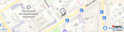 Книготорг на карте Орла
