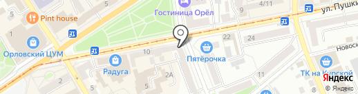 Магазин косметики на карте Орла