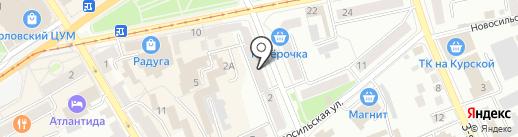 Почтовое отделение №30 на карте Орла