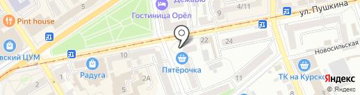 Магазин печатной продукции на карте Орла