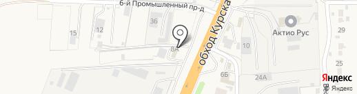 Курск Турборемонт на карте 1-й Моквы