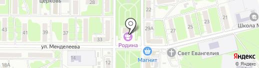 Родина на карте Курска